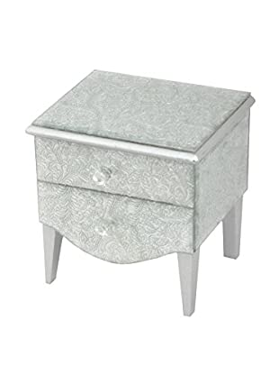 Three Hands Silver Mirrored Jewelry Box