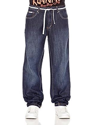 Grimey Wear Pantalón Denim Runners (Azul Lavado)