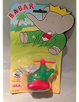 1990 Vintage Babar Helicopter Roller Toy