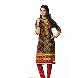 Buyclues Printed Multi Cotton Dress Material
