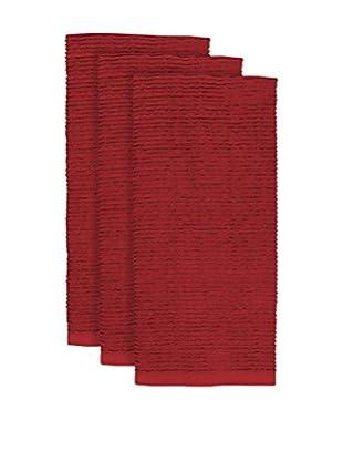 KAF Home Set of 3 Wave Terry Towel