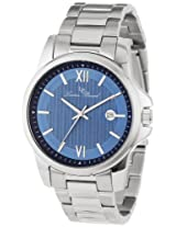 Lucien Piccard Men's 10048-33 Breithorn Blue Textured Dial Stainless Steel Watch