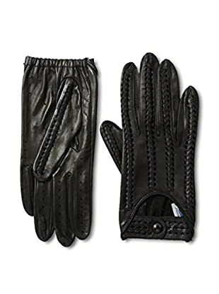 Portolano Women's Perforated Leather Driving Gloves (Black)