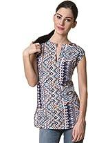 Rute Women's Tunic Shirt (S4_SKSA_7_Blue_XX-Small)