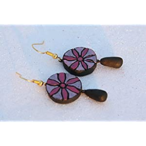 Petals of Earth Terracotta Pink hanging earrings