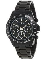 a_line Watches, Women's Amore Chronograph Black Dial Black Aluminum, Model 20050-BK