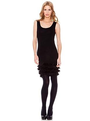 Rare Vestido Ruffle (Negro)