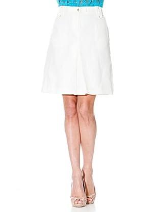 Cortefiel Falda Pliegue (Blanco)