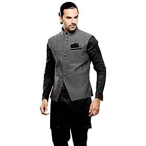 Jacket Style Black Kurta