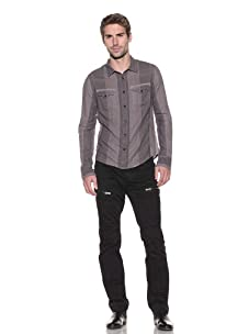 Rogue Men's Garment-Washed Long Sleeve Shirt (System Purple)