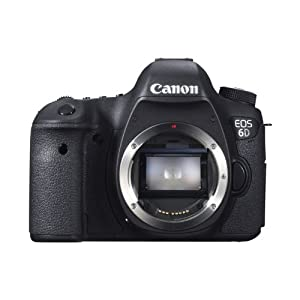 Canon EOS 6D 20.2MP Digital SLR Camera (Black) with Body Only