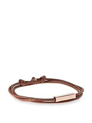 Griffin Brown Rose Gold Stillwell Convertible Triple Wrap Bracelet