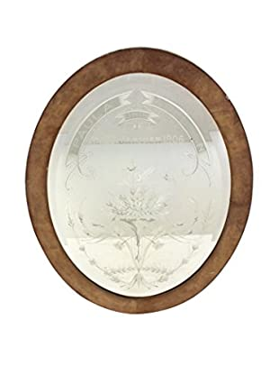 Antique Paula & Adelson French Oval Mirror, White