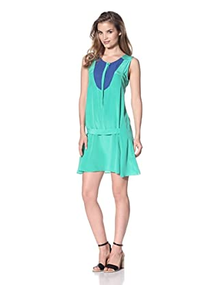 San & Soni Women's Brenda Colorblock Dress (Aerial)