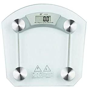 Square shape Thick Glass Weighing Machine Digital Glass Bathroom Weight Scale Measurement