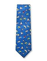 100% Silk Name That Fly Fishing Fisherman Necktie Tie Neckwear