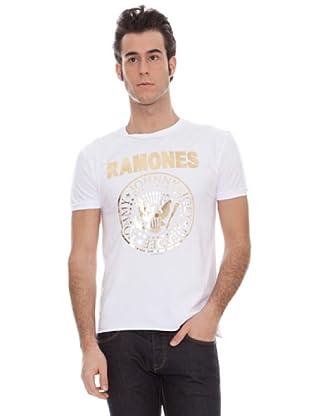 Amplified Camiseta Print Metal The Ramones (Blanco)
