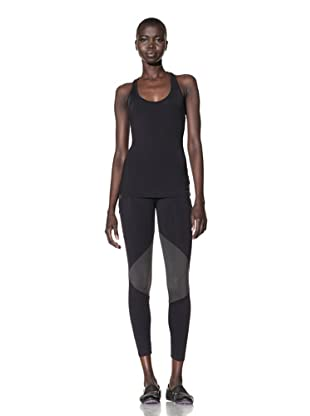 David Lerner Women's Racer Back Tank Top (Black/Grey)
