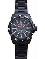Smith & Wesson Men's SWW-88-B Emissary Tritium H3 Stainless Steel and Black Zulu Straps Watch