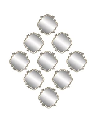 UMA Metal Wall Mirrors, Set of 9