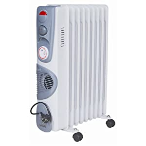 VOX X-OD-11TF Environment friendly Oil Filled Heater with timer & blower (White)