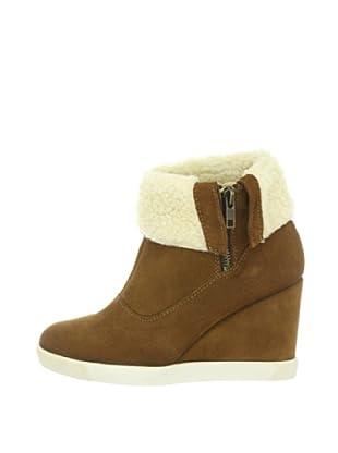 Buffalo London ES 30180 SUEDE 139249 - Botines fashion de cuero para mujer (Marrón)