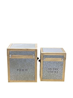 Vertuu Design Set of 2 Maddox Trunks