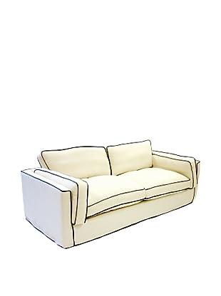 Armen Living South Beach Sofa in Slipcover, White