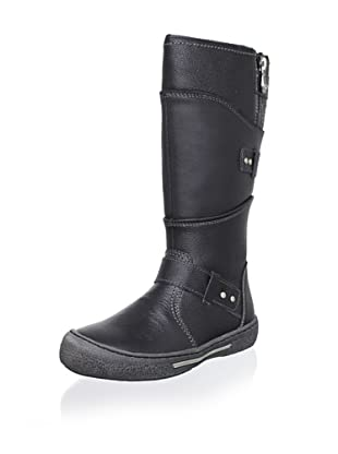 Billowy Kid's Layered Tall Boot (Black)