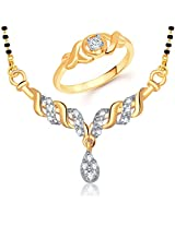 VK Jewels Fancy Design Combo Ring & Mangalsutra- COMBO1165G Size 16 [VKCOMBO1165G16]