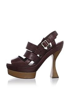 MARNI Women's Strappy Slingback Sandal (Saddle Brown)