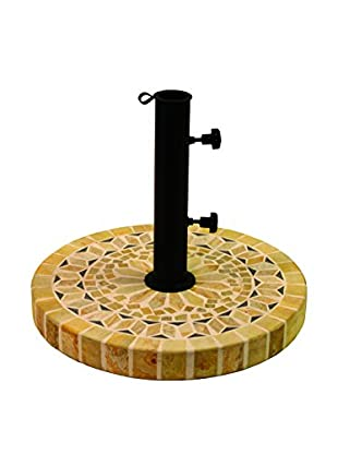 Outdoor Interiors Natural Stone Mosaic Umbrella Base, Honey