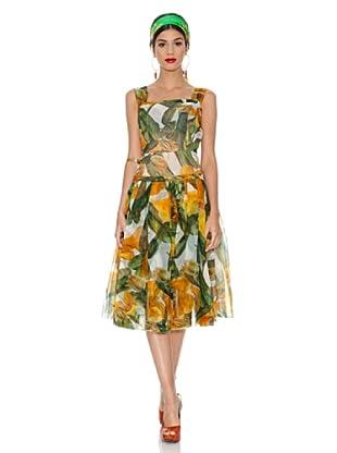 Dolce&Gabbana Vestido San (Verde / Naranja)