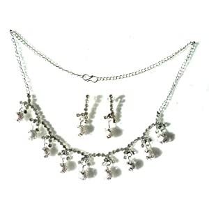 Anaaya Short pearls Necklace Set with Earring for Women AE-SN-502-PS