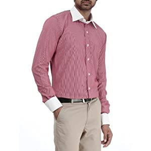 Genesis Red Striped Men Shirt 11GCSH26181