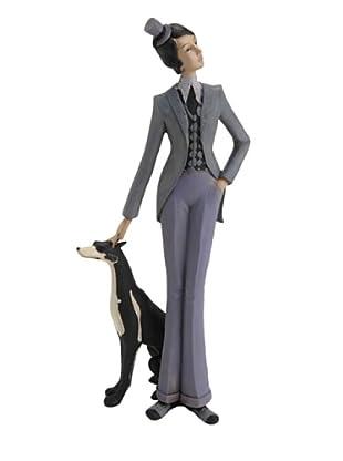 Amadeus Estatuilla Mujer Con Su Perro