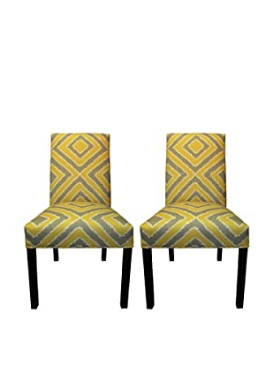 Sole Designs Straight Back Pair of Dining Chairs, Nouveau Dijon