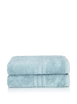 Chortex 2-Piece Imperial Bath Sheet Set, Soft Aqua