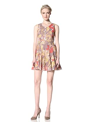 GREGORY PARKINSON Women's Printed Sleeveless Dress (Smoke Lilies)