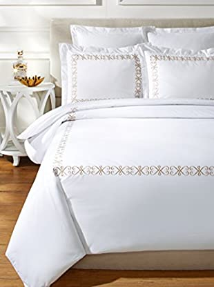 Westport Linens Modern Swirl Embroidered Duvet Set