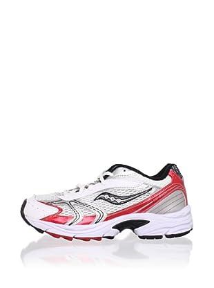 Saucony Kid's Cohesion 4 LTT Athletic Shoe (Toddler/Little Kid/Big Kid) (White/Black/Red)