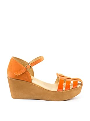 Misu Keil-Sandalette Halley (Orange)