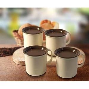 Tupperware White Coffee Mugs - 4 Pcs