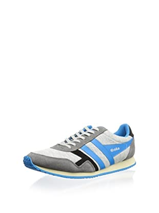 Gola Men's Spirit Jersey Sneaker (Grey/Process Blue/Black)