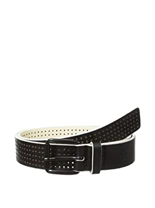 Original Penguin Men's Perforated Leather Belt (Black)