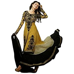 Beige Pure Georgette with Embroidery, Resham And Zari Work  Unstitched Anarkali Salwar Kameez Suit