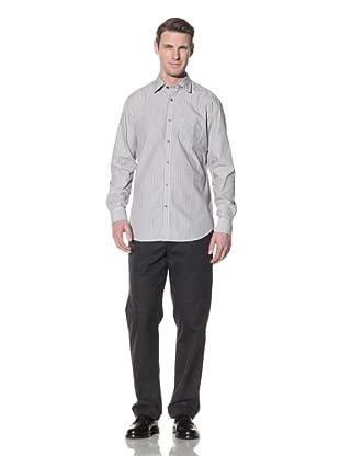 Hart Schaffner Marx Men's Spade Pocket Woven Shirt (Grey)