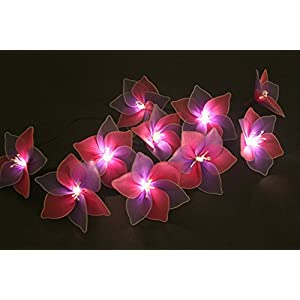 Fabric flowers fairy lights - Clematis