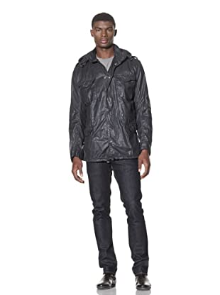 French Connection Men's Waxed Army Jacket (Darkest Blue)