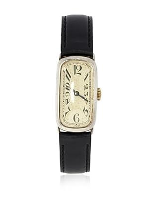 Roseau Women's 8215 Black Sterling Silver Watch